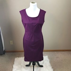 Cynthia Rowley Purple Fit And Flare Midi Dress